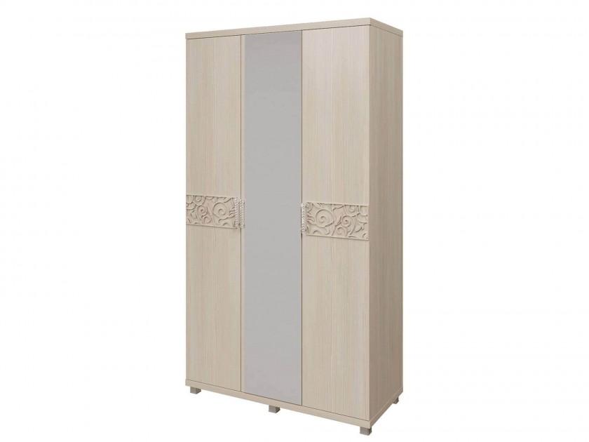 распашной шкаф Шкаф для платья и белья 3-х дверный Ирис Ирис