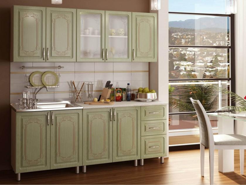 Зеленые кухни из массива