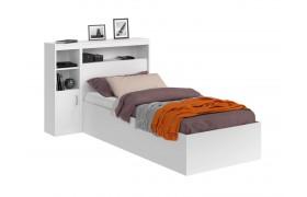 Кровать Виктория белая 90 с блоком и 1 тумбой