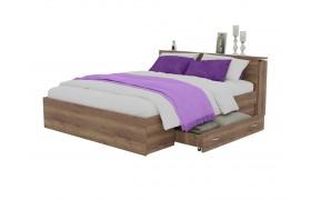 Кровать Доминика с блоком и ящиками 140 (Дуб Золотой)