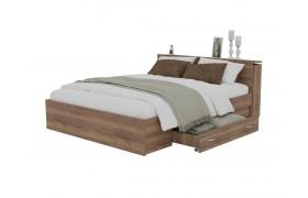 Кровать Доминика с блоком и ящиками 160 (Дуб Золотой)