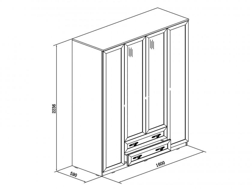 Распашной шкаф Юлианна в цвете Дуб феррара