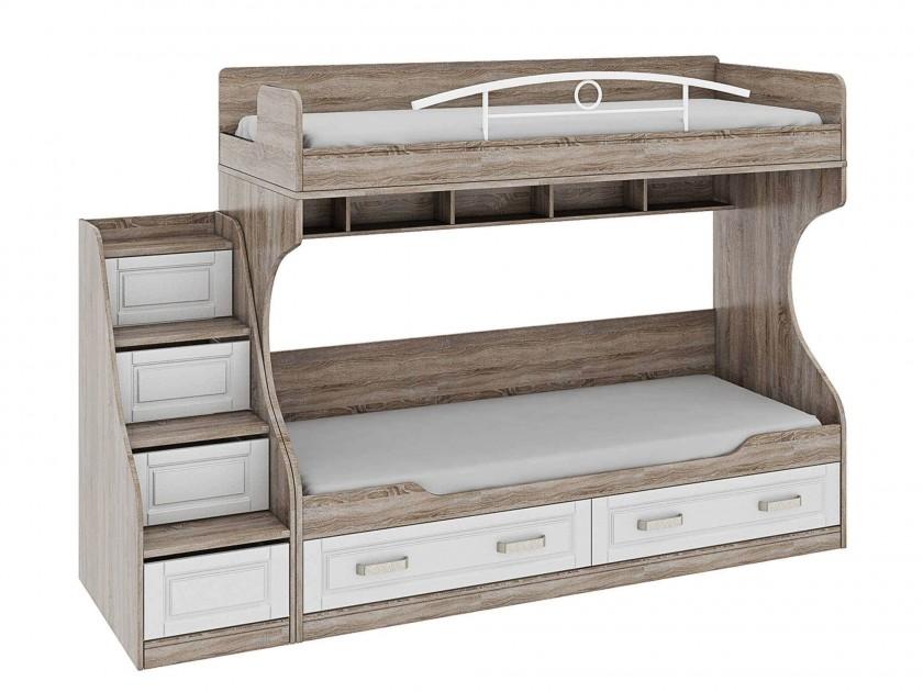 кровать Кровать двухъярусная с лестницей с ящиками Прованс Прованс лестница приставная с ящиками прованс