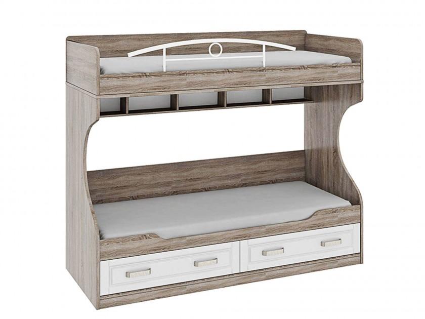кровать Кровать 2-х ярусная (без лестницы) Прованс (80х200) Прованс кровать 2х ярусная пилигрим дуб каньон светлый фон серый без лестницы 80х200 см