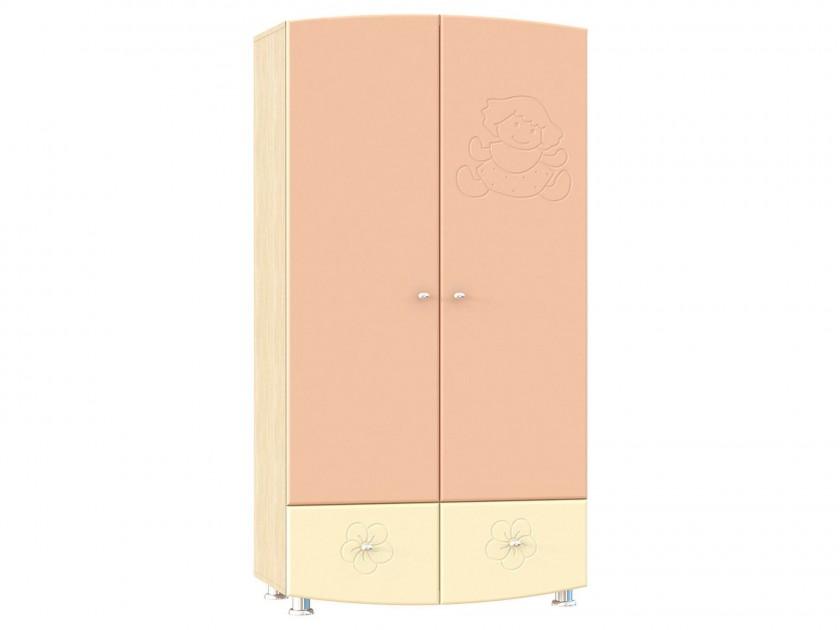 распашной шкаф Шкаф для одежды Капитошка Капитошка в цвете Абрикос Шагрень