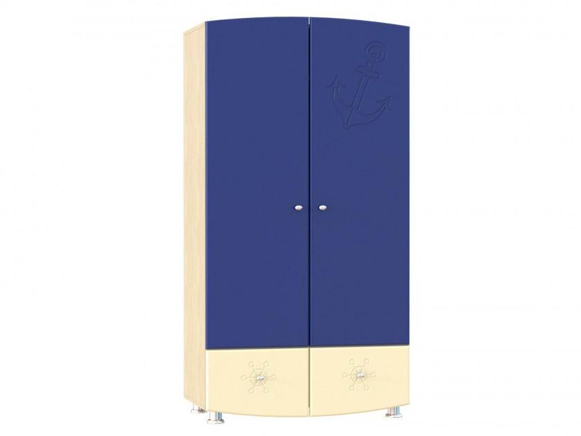 распашной шкаф Шкаф для одежды Капитошка Капитошка в цвете Синяя Шагрень