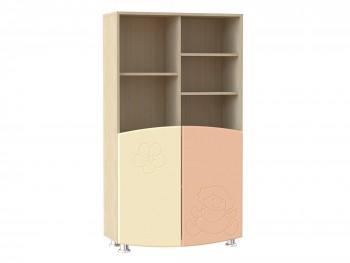 Распашной шкаф Капитошка в цвете Абрикос Шагрень