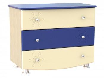 Комод детский Капитошка в цвете Синяя Шагрень