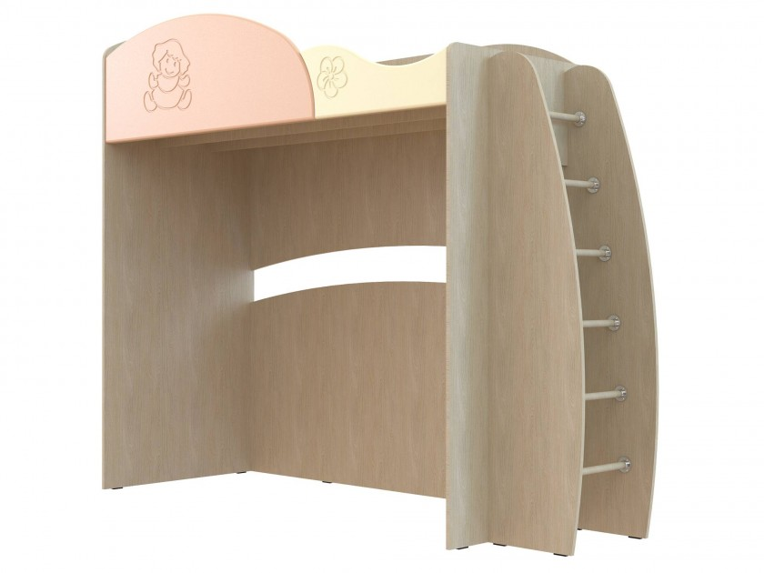 кровать Кровать с лестницей Капитошка (80х190) Капитошка в цвете Абрикос Шагрень сандалии капитошка капитошка mp002xg00ips