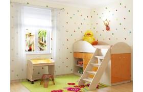 Детский гарнитур Маугли в цвете Оранж Глянец