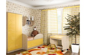 Детский гарнитур Маугли в цвете Желтый Глянец