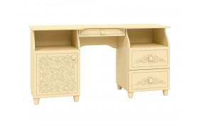 Письменный стол Соня в цвете Ваниль Шагрень