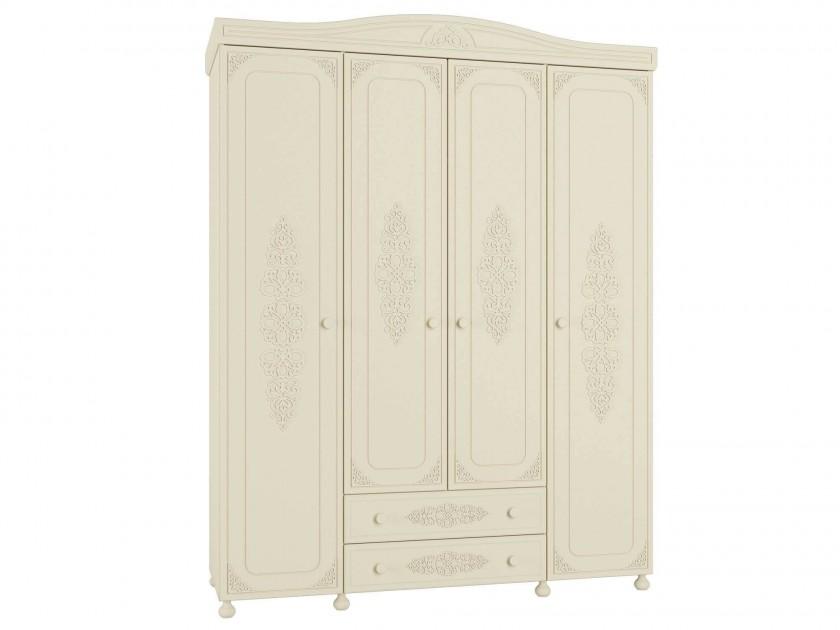 распашной шкаф Шкаф комбинированный Ассоль Плюс Ассоль Плюс в цвете Ваниль
