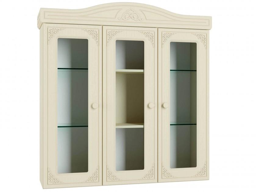 шкаф для кухни Шкаф-Витрина Ассоль Плюс Ассоль Плюс в цвете Ваниль