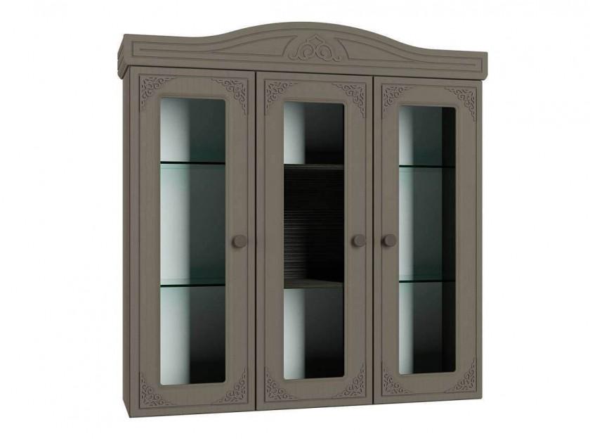 шкаф для кухни Шкаф-Витрина Ассоль Плюс Ассоль Плюс в цвете Грей