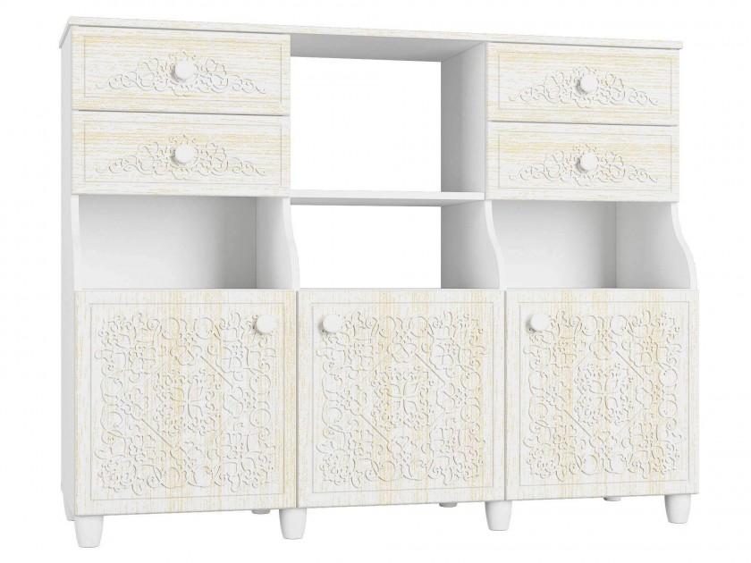 цена на шкаф Шкаф комбинированный Соня Премиум Соня Премиум в цвете Патина Ясень