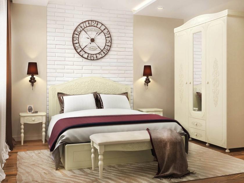 спальный гарнитур Спальня Ассоль Плюс Ассоль в цвете Белый