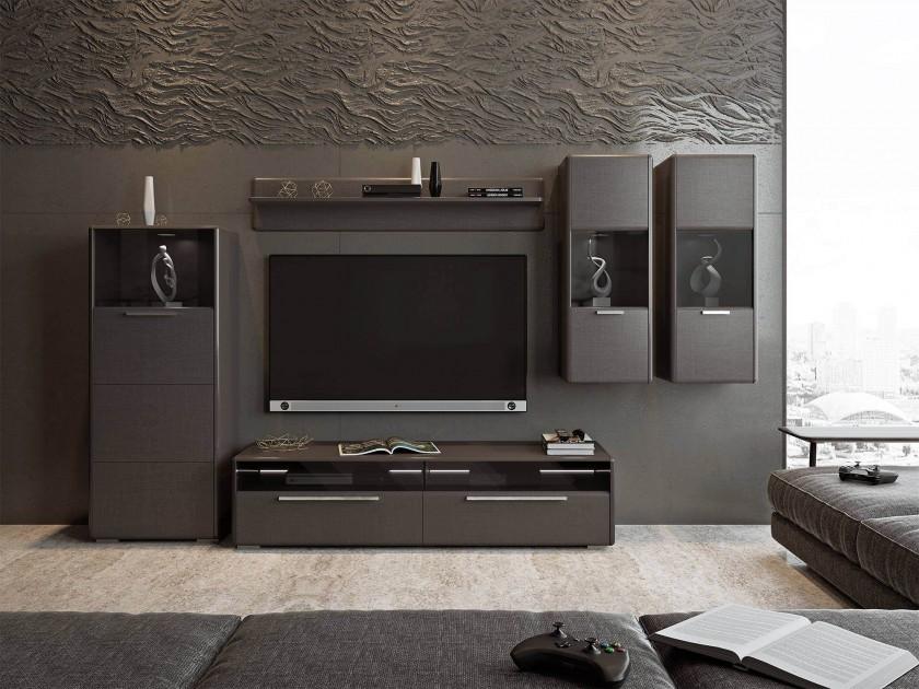 Шкафы в зал с нишей под телевизор